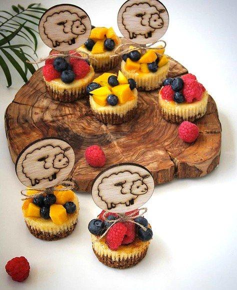 Eid Adha Cake Decoration Pack - 6 x Wood Lamb