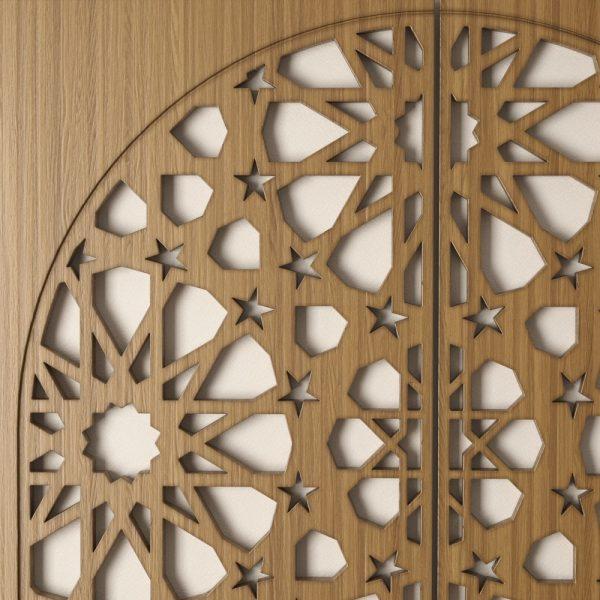 Samai Wood Window - 2 Sheets - 100 x 100 cm