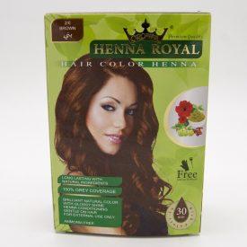Royal Brown Henna - Crown - Novelty - Gift Gloves + Brush