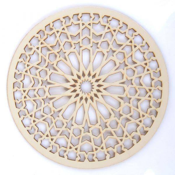 Openwork Arabic Lattice - Laser Cut Wood - Model 7 - 30 cm