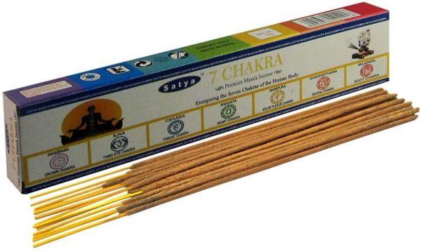 Incense Sticks 7 Chakras - Satya - Premium Masala - 15gr
