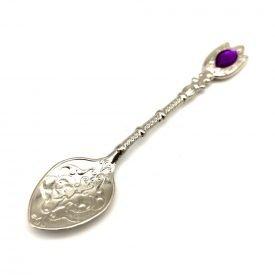 Metal Spoon - Nickel Plated - Color Decorative Resin - Fidda Model
