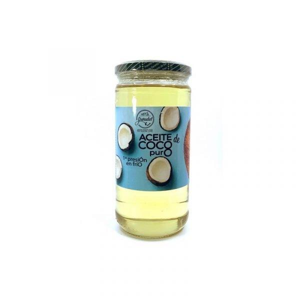 PURE COCONUT OIL 1ST PRESSURE - 250 ML GLASS JAR. - CULINARY AND COMETIC - GRANADIET -