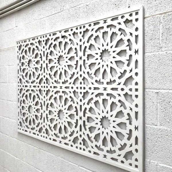 ARABIC CELOSIA FRAME - ALHAMBRA DESIGN - WHITE COLOR 160cm x 100cm x 1cm