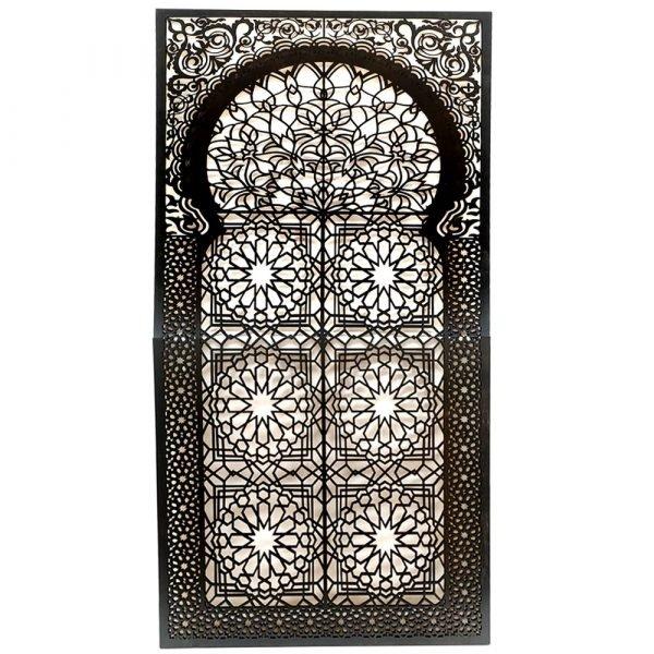 Mirror Frame - Wood or Arabic Lattice - Unique and Original Design - Wengue Color - 2m x 1m x 1cm