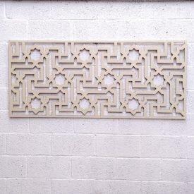 Wooden Headboard - Celosia Andalusi - Moorish Geometry - Bone White - MATAAHA Design