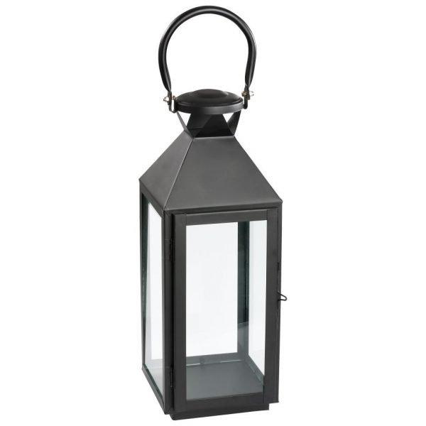 Vintage Glass and Iron Garden Lantern - Aswad Model