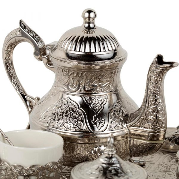 Engraved Cast Iron Teapot DELUXE - Istanbul Model