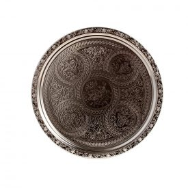 Engraved Tea Tray 35 cm - DELUXE Quality - Ottoman Model
