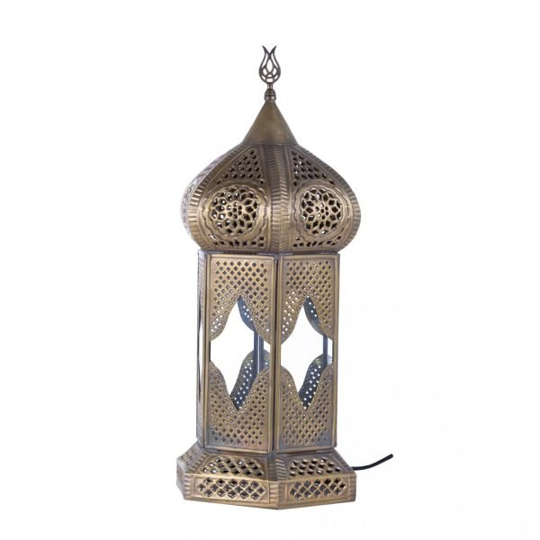 Antique Bronze Table Lantern - DELUXE - Model Samarkand 47 cm