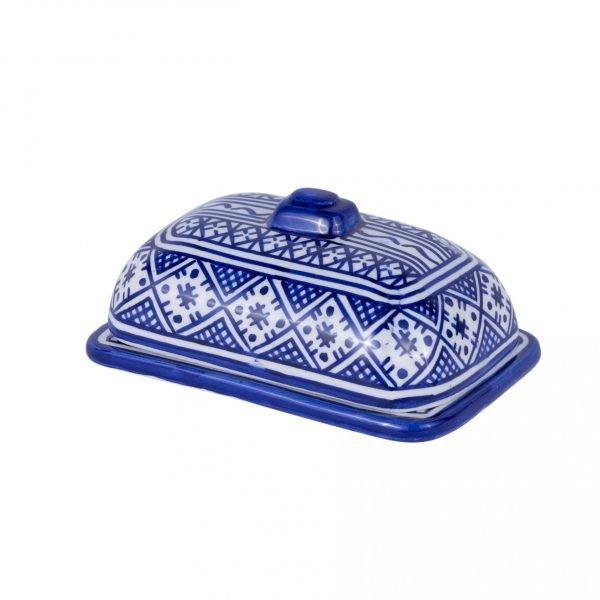 Ceramic Butter Dish Fez - Porcelain Crafts