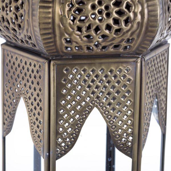 Antique Bronze Table Lantern - DELUXE - Samarcanda Model 56 cm