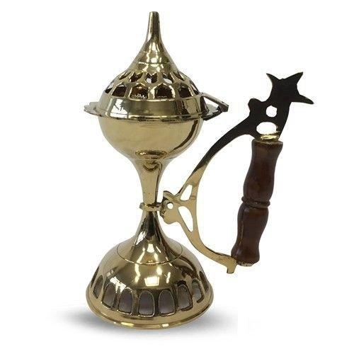 Bronze Censer - Wood Handle - Model AHKAMI