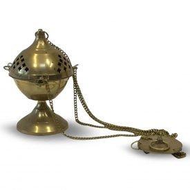 Large Botafumeiro Censer - Bronze - Chain 50 cm - Coptic Model