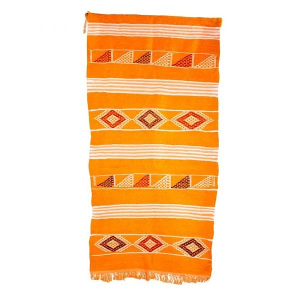 Berber Wool Tapestry - Kilim Safra