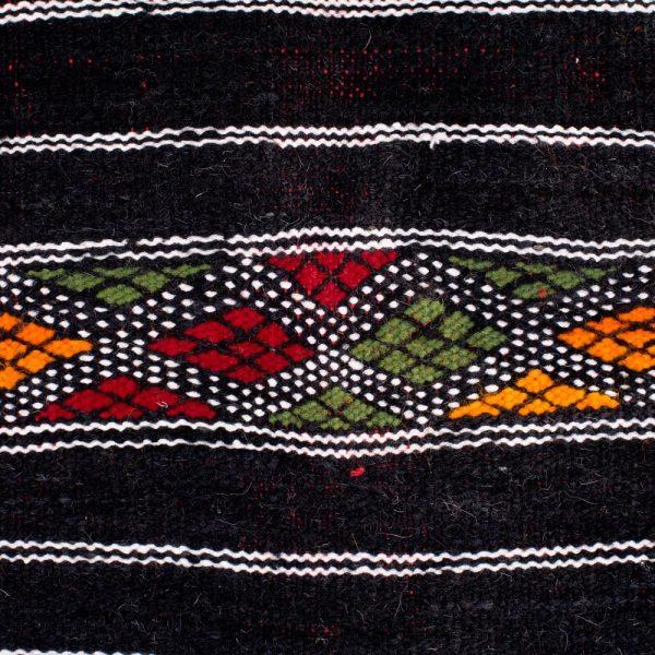 Berber Wool Tapestry - Kilim Aswad - 120 x 52 cm