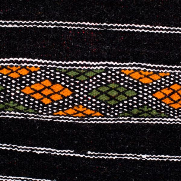 Berber Wool Tapestry - Kilim Aswad - 100 x 52 cm