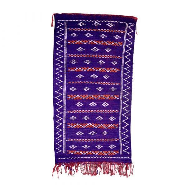 Berber Wool Tapestry - Kilim Banafsiyi - 105 x 52 cm