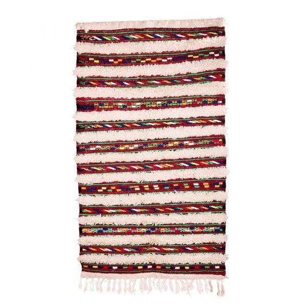 Berber Wool Tapestry - Kilim Abiad - 128 x 74 cm