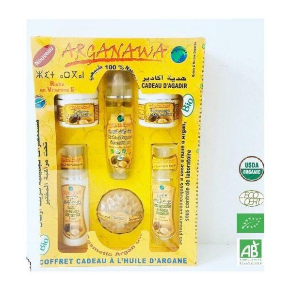 Gift Box 6 Organic Certified Argan Products - ARGANAWA