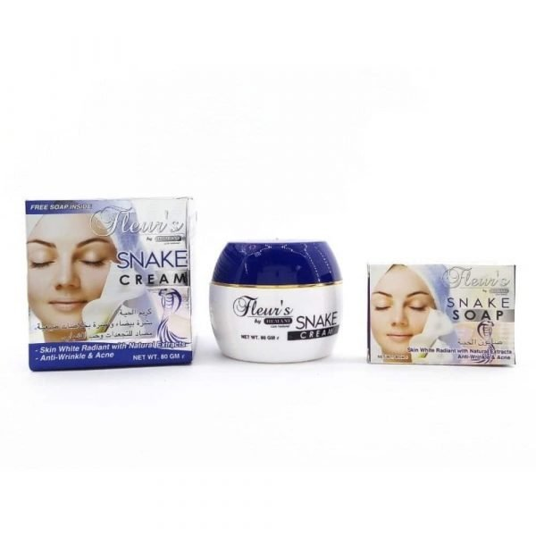 Facial Cream + Snake Soap - Wrinkles and Acne - 80 ml - Hemani